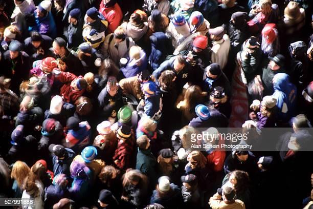 Packed pedestrians