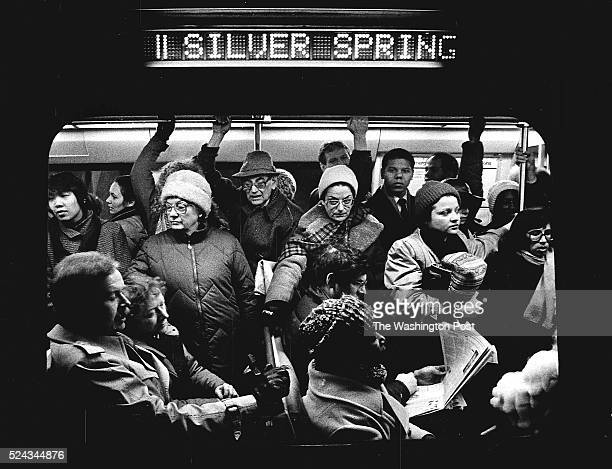 FILE A packed train of commuters on the Silver Spring metro on the Red Line on January 27 1987