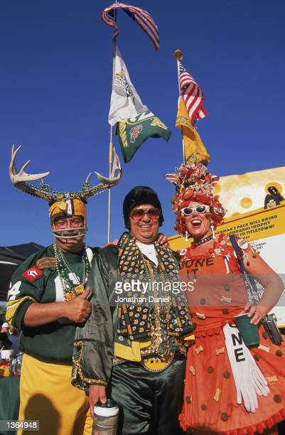 Packer fans have a tailgate party before the game between the Green Bay Packers and the Cleveland Browns at Lambeau Field on August 262002 in Green...