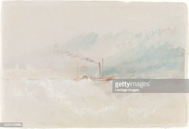 Packet Boat off Dover, circa 1836. Artist JMW Turner.