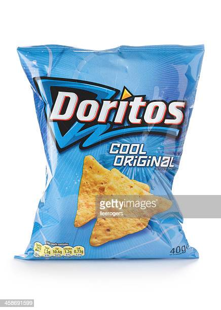 Packet of Doritos cool original flavour on a white background