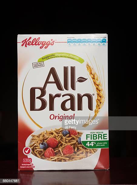 Packet of Kellogg's All Bran breakfast cereal