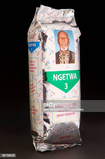 Packet of Ngetwa herbal medicine for 'the treatment of many diseases' Popular herbal medicines are massproduced and foilpacked for a longer shelf...