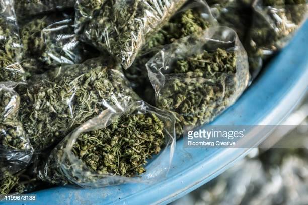 packets of cannabis - マセル ストックフォトと画像