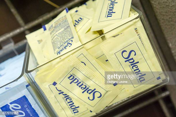 Packets of Equal and Splenda in a coffee bar in New York on Sunday February 28 2016 Artificial sweeteners use different chemicals to enhance your...