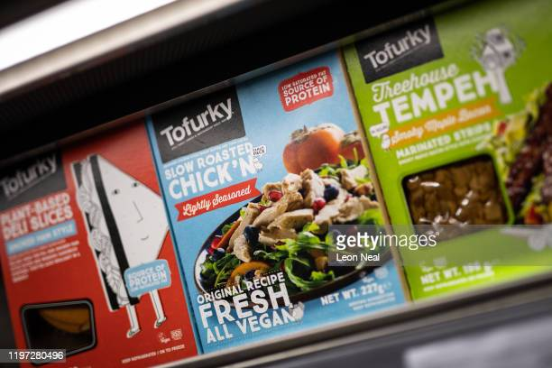 "Packets of meat-free vegan ""Tofurky"" is displayed in a branch of the Planet Organic healthfood store on January 03, 2020 in London, England...."
