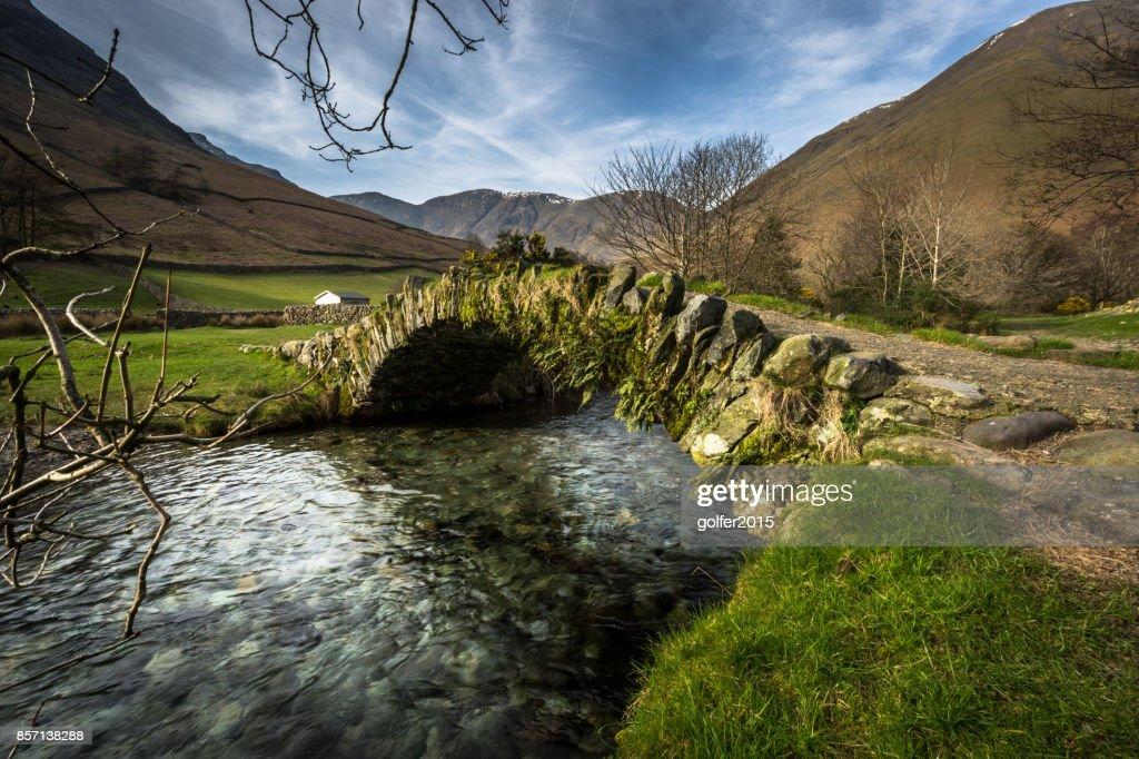 Packhorse Bridge - Wasdale - Lake District : Stock Photo