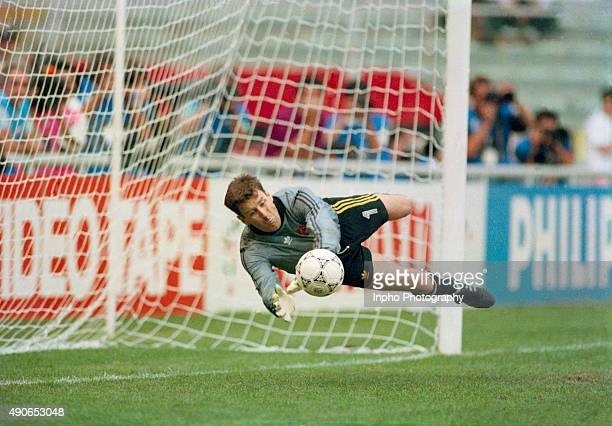 Packie Bonner saves a penalty to win the match and put Republic of Ireland into the quarter/finals and a match against the hosts Italy Republic of...