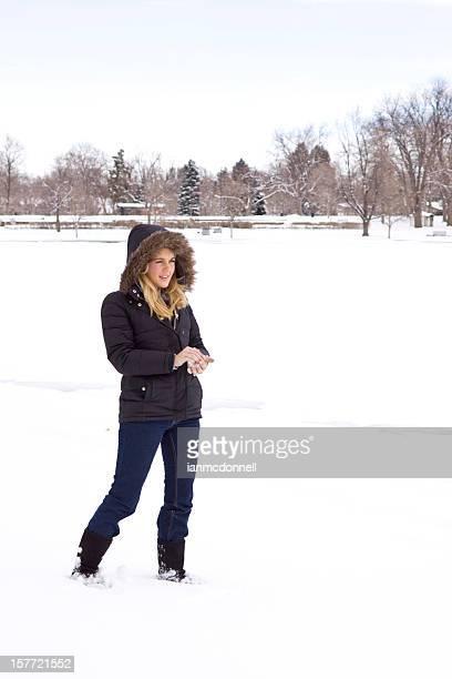 Embalaje una bola de nieve