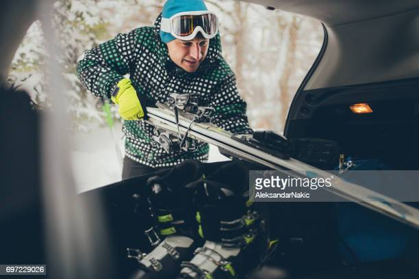 packing for skiing - ski holiday stock pictures, royalty-free photos & images