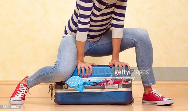packing for vacation - full stock pictures, royalty-free photos & images