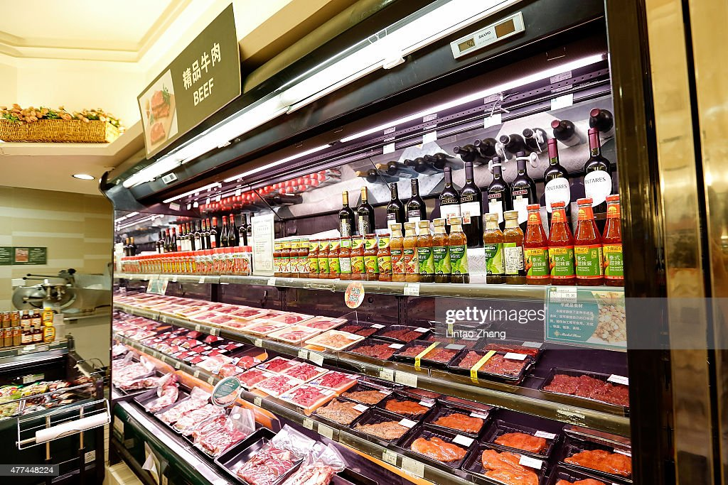 Packs of beef imported from Australia are displayed for sale at supermarkets on June 17, 2015 in Beijing, China. China's Minister of Commerce Gao Hucheng today is in Australia to formalise the free trade agreement between Australia and China, In the field of goods, both sides have accounted for 85.4 percent of export trade products will achieve zero tariffs immediately upon entry into force of the Agreement.
