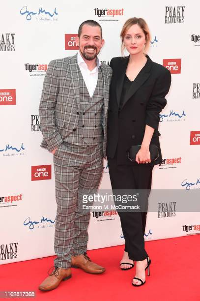 Packy Lee and Sophie Rundle attend the premiere of the 5th season of Peaky Blinders at Birmingham Town Hall on July 18 2019 in Birmingham England