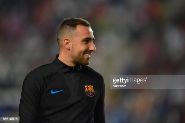Paco Alcacer during the match between Real Murcia vs FC Barcelona Copa del Rey 2017/18 in Nueva Condomina Stadium Murcia Spain on 24th of October 2017