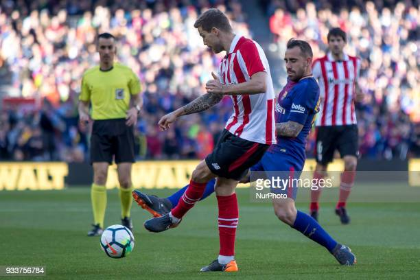 Paco Alcacer during the spanish league match between FC Barcelona and Athletic Club Bilbao at the Camp Nou Stadium in Barcelona Catalonia Spain on...
