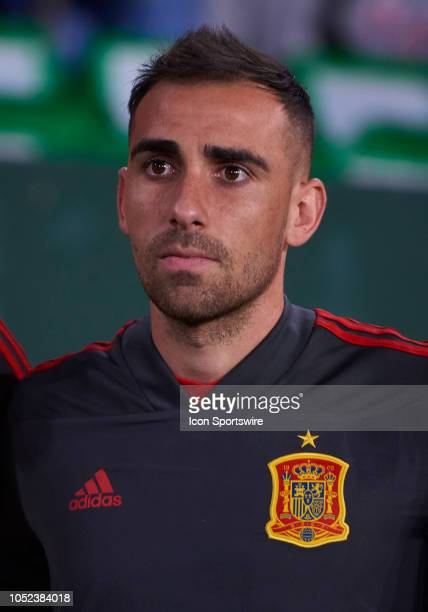 Paco Alcacer forward of Spain looks before the UEFA Nations League A Group four match between Spain and England on October 15 at Benito Villamarin...