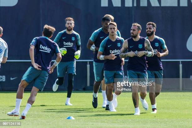 Paco Alcacer from Spain during the first FC Barcelona training session of the 2018/2019 La Liga pre season in Ciutat Esportiva Joan Gamper Barcelona...