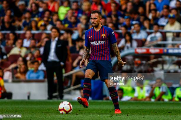 Paco Alcacer from Spain during the Joan Gamper trophy game between FC Barcelona and CA Boca Juniors in Camp Nou Stadium at Barcelona on 15 of August...
