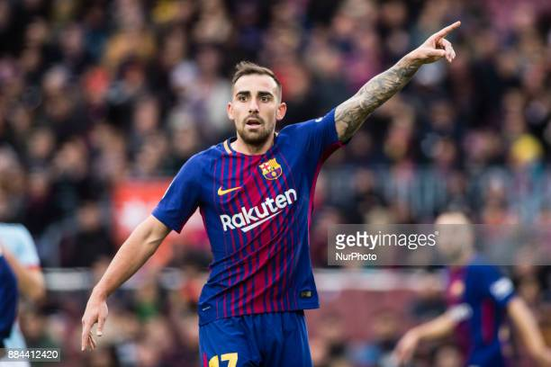 Paco Alcacer from Spain of FC Barcelona during the La Liga match between FC Barcelona v Celta de Vigo at Camp Nou Stadium on December 2 2017 in...