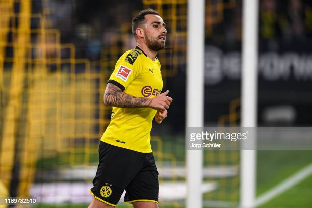 Paco Alcacer of Dortmund during the Bundesliga match between Borussia Dortmund and SC Paderborn 07 at Signal Iduna Park on November 22 2019 in...
