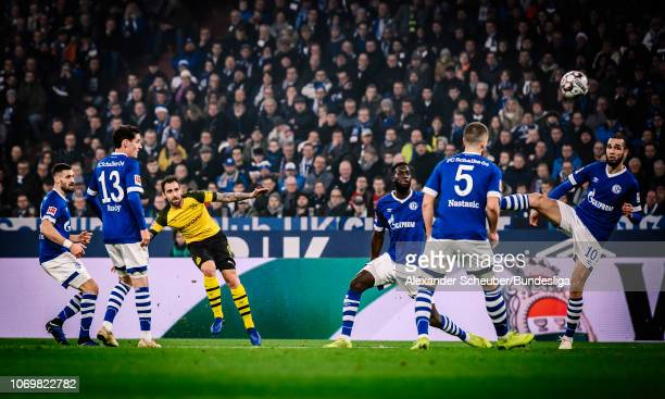 Paco Alcacer of Dortmund in action during the Bundesliga match between FC Schalke 04 and Borussia Dortmund at VeltinsArena on December 8 2018 in...
