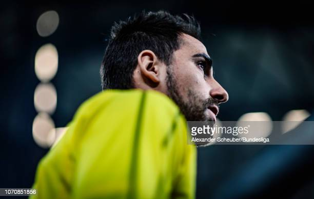 Paco Alcacer of Dortmund is seen during the Bundesliga match between FC Schalke 04 and Borussia Dortmund at VeltinsArena on December 8 2018 in...