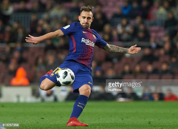 Paco Alcacer of FC Barcelona during the spanish Copa del Rey semifinal first leg match between FC Barcelona and Valencia at Camp Nou Stadium on...