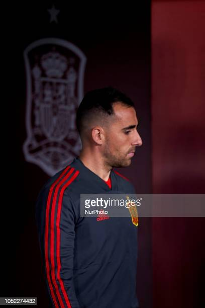 Paco Alcacer of Spain during the UEFA Nations League football match between Spain and England at Benito Villamarin Stadium in Seville Spain on...