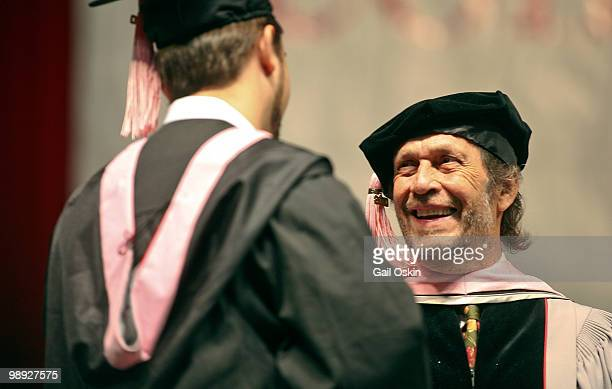 Paco De Lucia one of five honorary doctorate recipients at the 2010 commencement ceremony at Berklee College of Music on May 8 2010 in Boston...