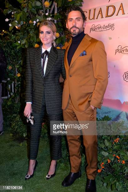 Paco León and Amaia Salamanca attend the photocall of the presentation of GUADALQUIVIR the new gin from Puerto de Indias on November 12 2019 in...