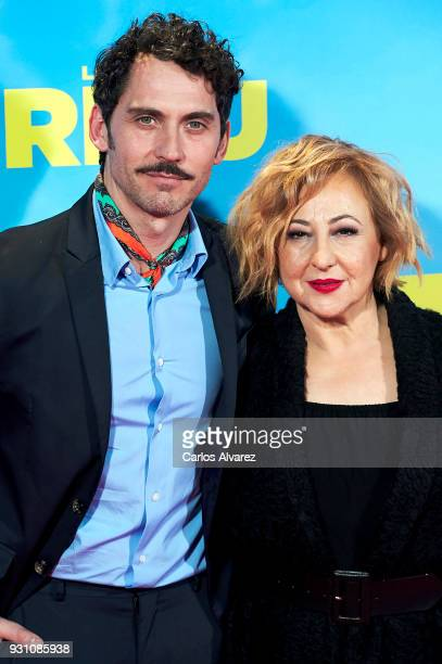 Paco Leon and Carmen Machi attend 'La Tribu' premiere at the Capitol cinema on March 12 2018 in Madrid Spain