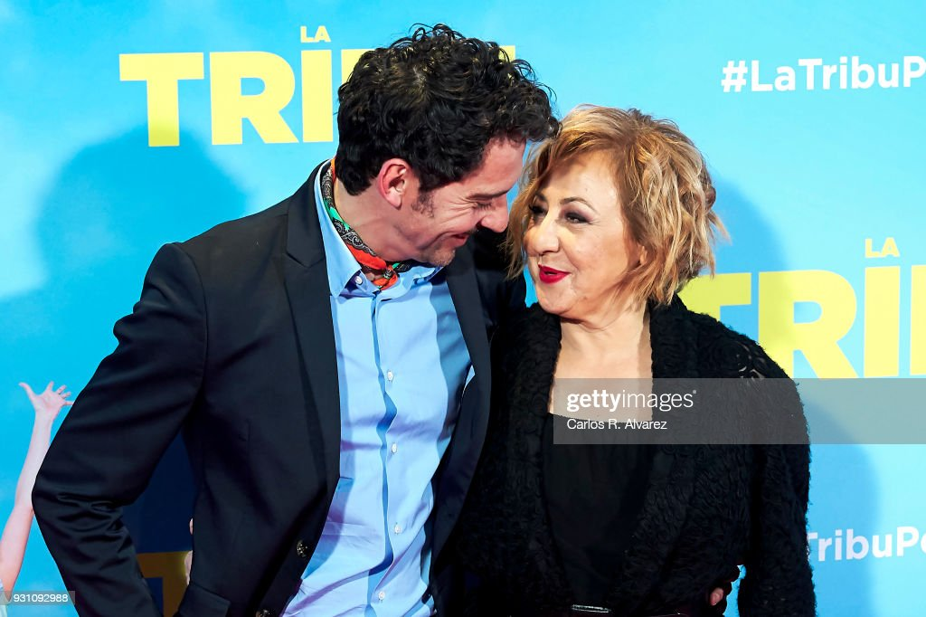 Paco Leon and Carmen Machi attend 'La Tribu' premiere at the Capitol cinema on March 12, 2018 in Madrid, Spain.