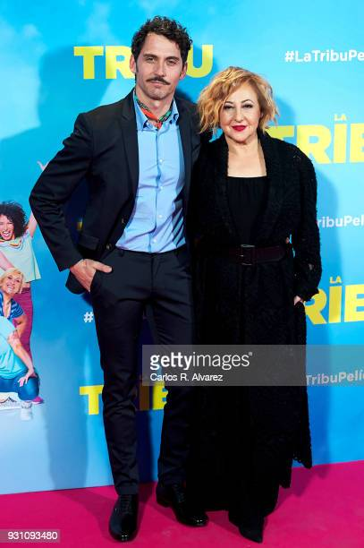 Paco Leon and Carmen Machi attend 'La Tribu' premiere at the Capitol cinema on March 12 2018 in Madrid Spain