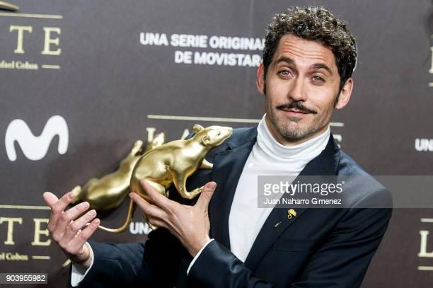 Paco Leon attends 'La Peste' premiere at Callao Cinema on January 11 2018 in Madrid Spain