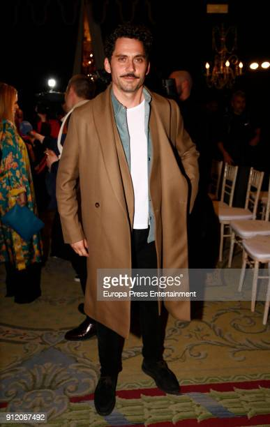 Paco Leon attends the front row of Palomo Spain show during Mercedes Benz Fashion Week Madrid Autumn / Winter 2018 on January 28 2018 in Madrid Spain