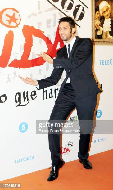 Paco Leon attends the red carpet for 'Aida' during day four of 5th FesTVal Television Festival 2013 at Principal Theater on September 5 2013 in...