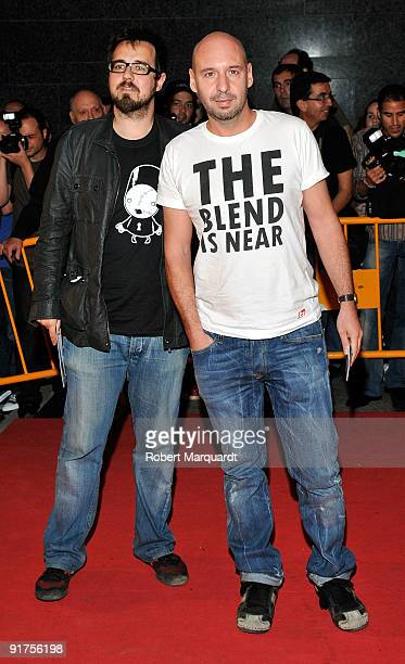 Paco Plaza and Jaume Balaguero attend the premiere of 'The Road' at the 42nd Sitges Film Festival on October 11, 2009 in Barcelona, Spain.