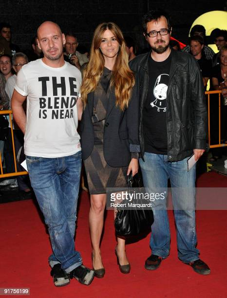 Paco Plaza, Manuela Velasco, and Jaume Balaguero attend the premiere of 'The Road' at the 42nd Sitges Film Festival on October 11, 2009 in Barcelona,...