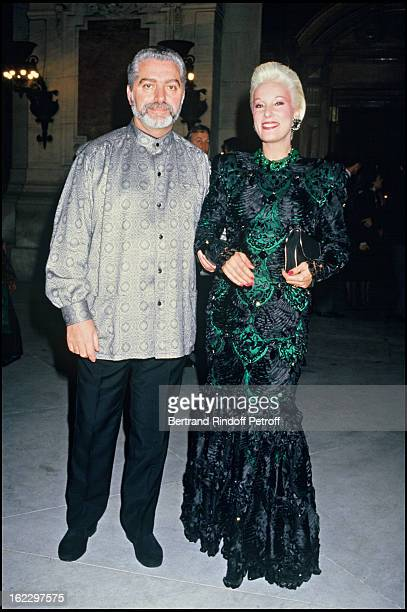Paco Rabanne and Bernadette Lafont at the 1987 Fashion Oscars