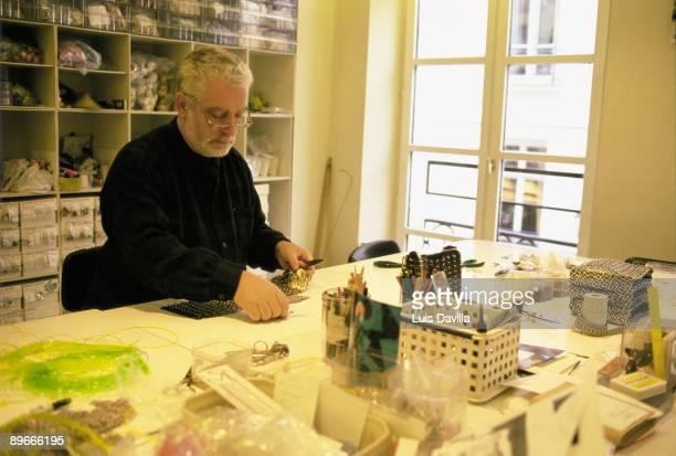 Paco Rabanne at his studio in Paris The fashion designer working in his studio