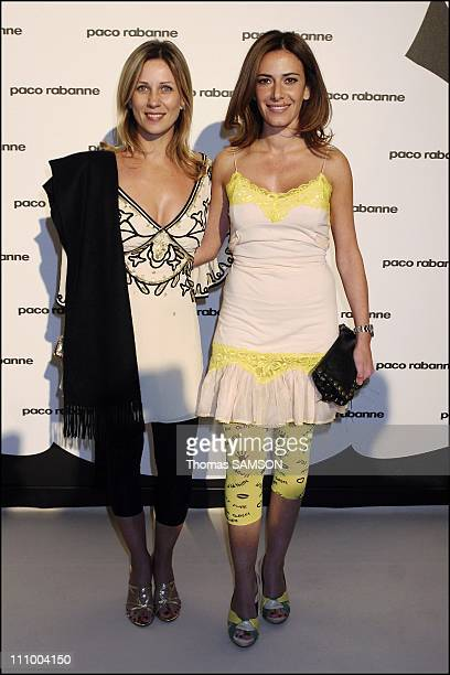 Paco Rabanne launches his new perfume Black XS Elsa Fayer and a friend in Paris France on May 29th 2007