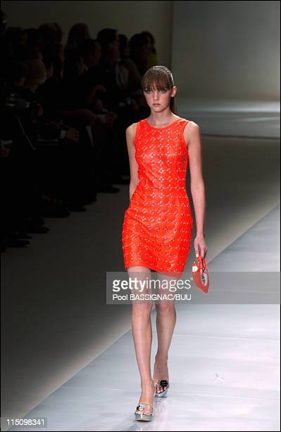 Paco Rabanne spring-summer 2004 ready-to-wear collection in Paris, France on October 11, 2003.