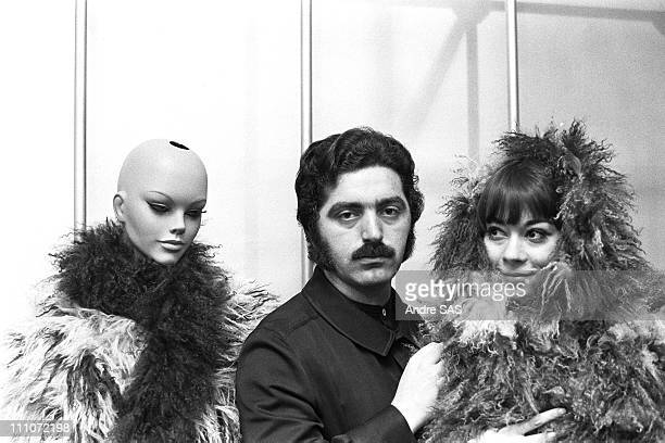 Paco Rabanne With Model In France In 1968