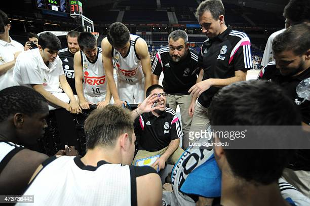 Paco Redondo Head Coach of Real Madrid during the Adidas Next Generation Tournament Final Game between Real Madrid vs Crvena Zvezda at Barclaycard...