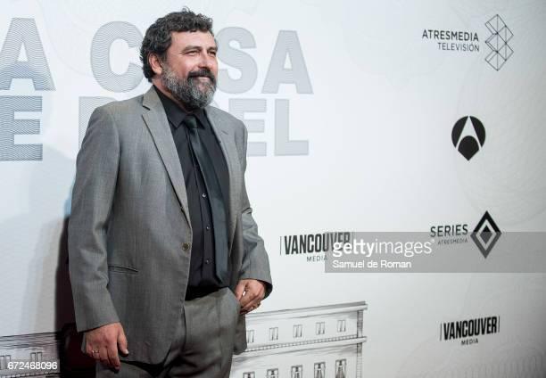 Paco Tous attends 'La Casa de Papel' Madrid Premiere on April 24 2017 in Madrid Spain