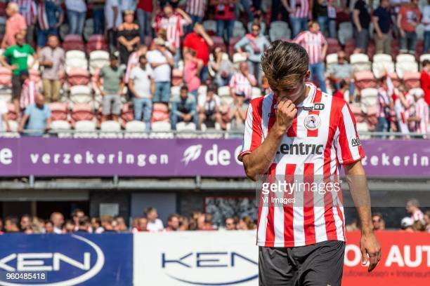 Paco van Moorsel of Sparta Rotterdam during the Dutch Jupiler League playoffs final match between Sparta Rotterdam and FC Emmen at the Sparta stadium...