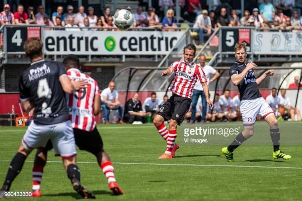 Paco van Moorsel of Sparta Rotterdam Youri Loen of FC Emmen during the Dutch Jupiler League playoffs final match between Sparta Rotterdam and FC...
