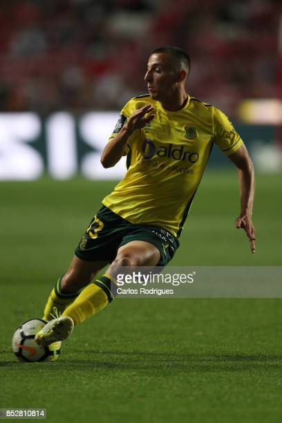 Pacos de Ferreira defender Francisco Afonso from Portugal during the match between SL Benfica and FC Paco de Ferreira for the round seven of the...