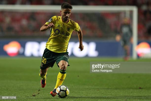 Pacos de Ferreira forward Antonio Xavier from Portugal during the match between SL Benfica and FC Paco de Ferreira for the round seven of the...