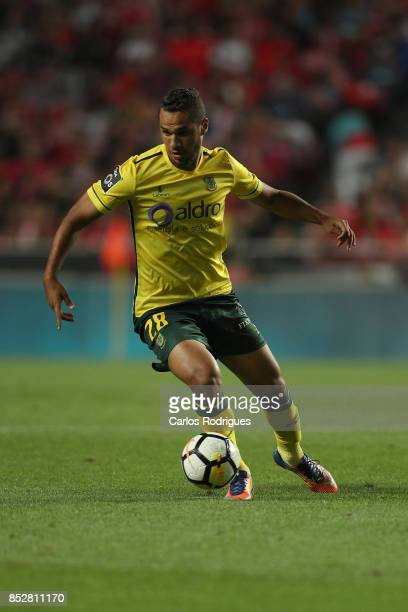 Pacos de Ferreira forward Luiz Phellype from Brazil during the match between SL Benfica and FC Paco de Ferreira for the round seven of the Portuguese...